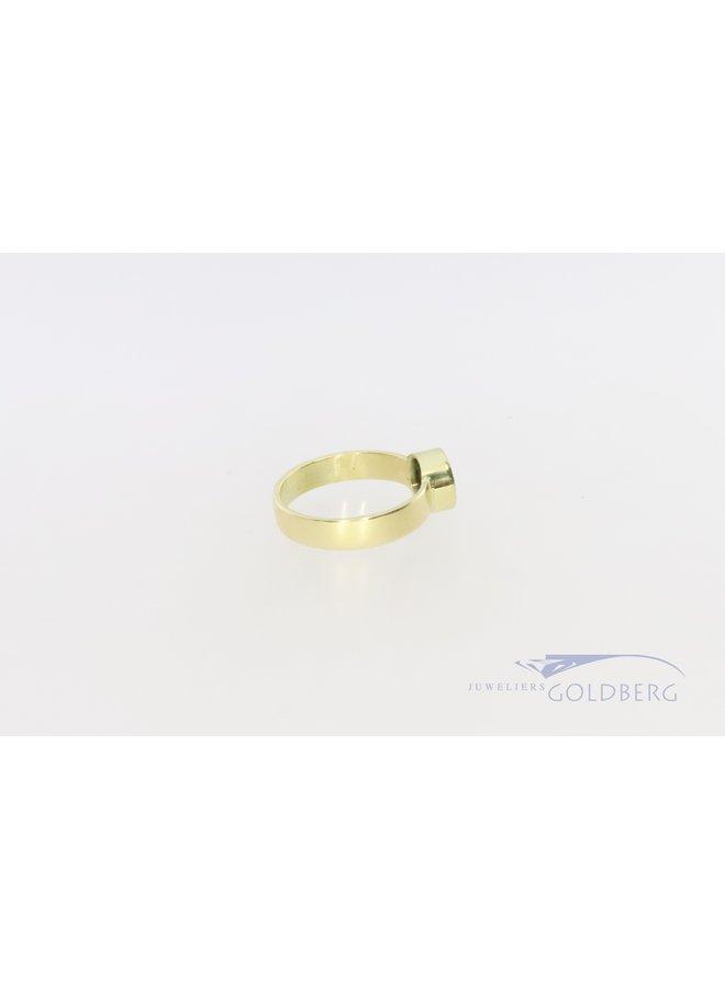 14k gouden ring met diopsiet uit eigen atelier