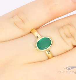 14k gold ring with fluorite from our own workshop