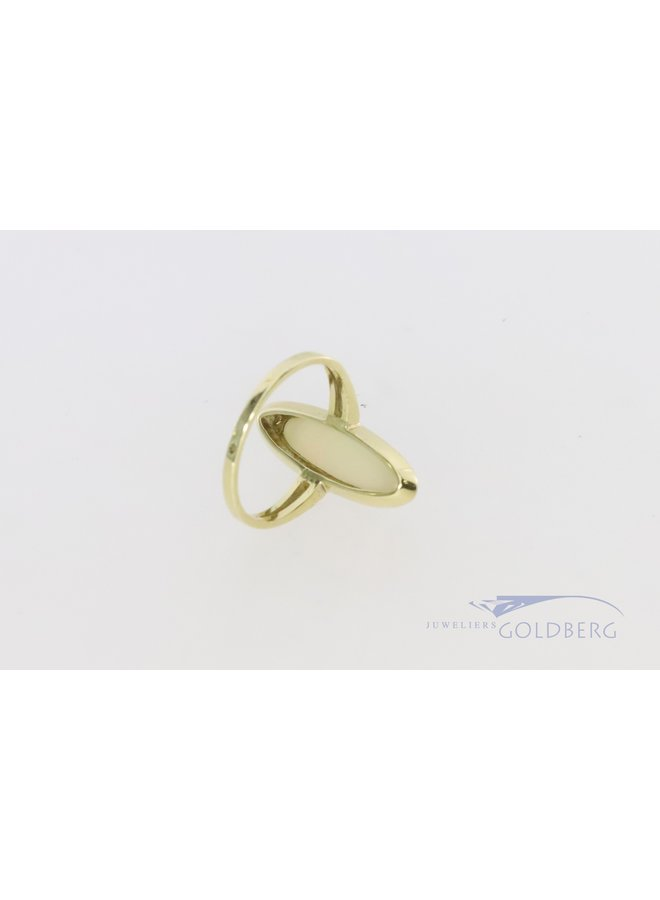 14k ring with marquis opal