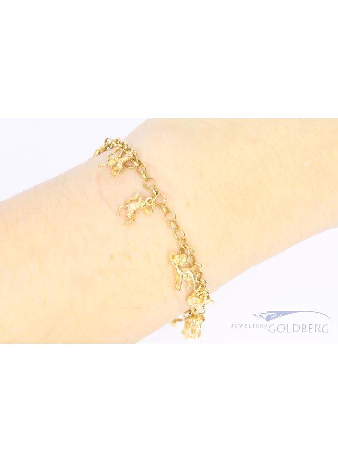14k charm bracelet with Chinese zodiac