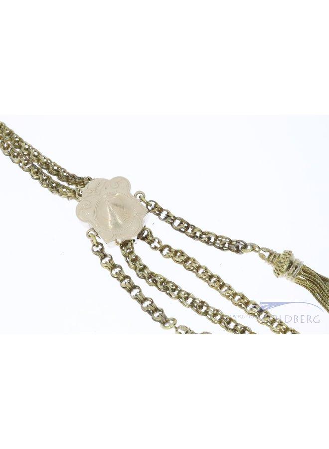 Brabant antique slider chain 14k