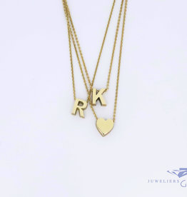 Various 14 carat YELLOW gold handmade pendants with necklace included