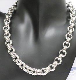 925 silver jasseron neckless 12 mm