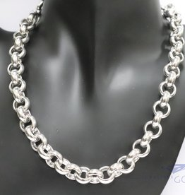 925 zilver jasseron collier 12mm