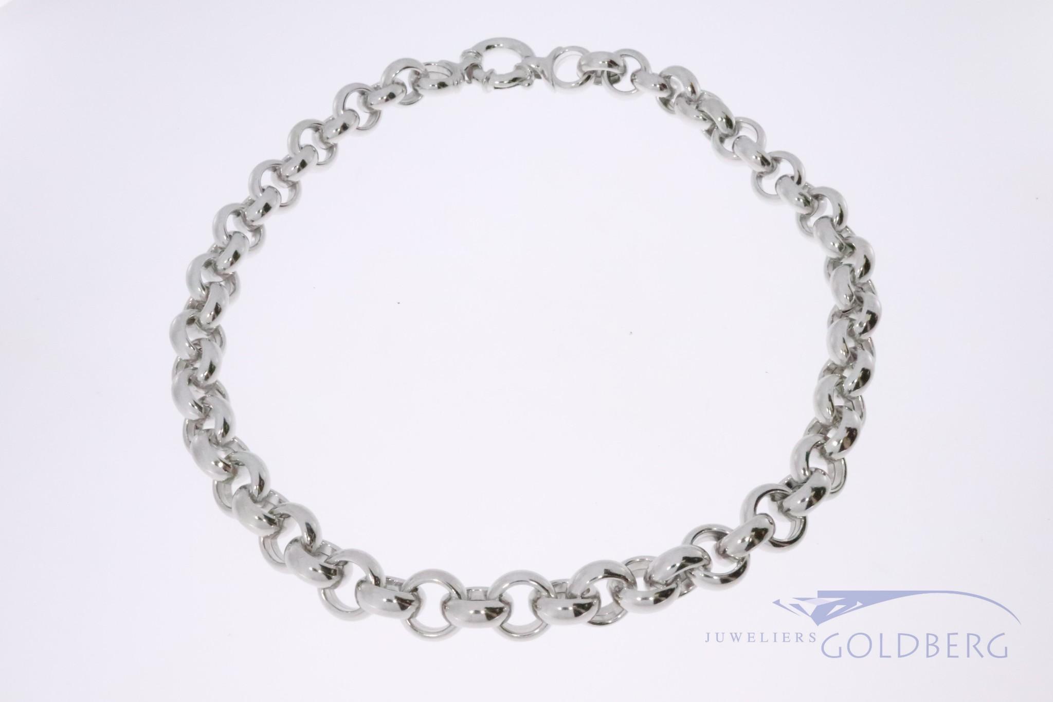 925 zilver jasseron collier 12mm