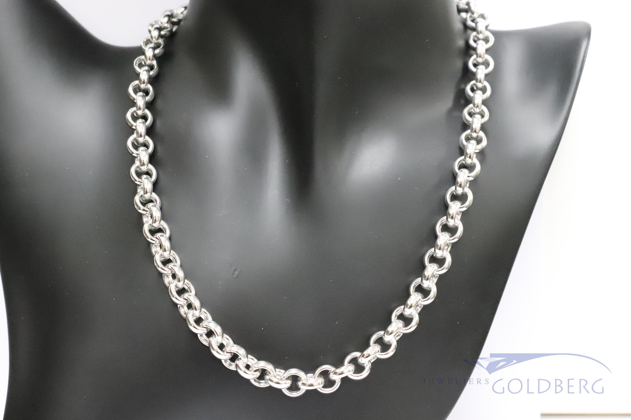925 zilver jasseron collier 9mm