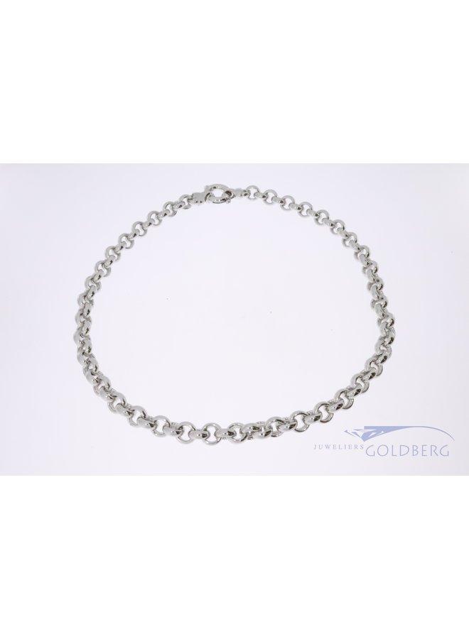 925 zilver jasseron collier 9mm