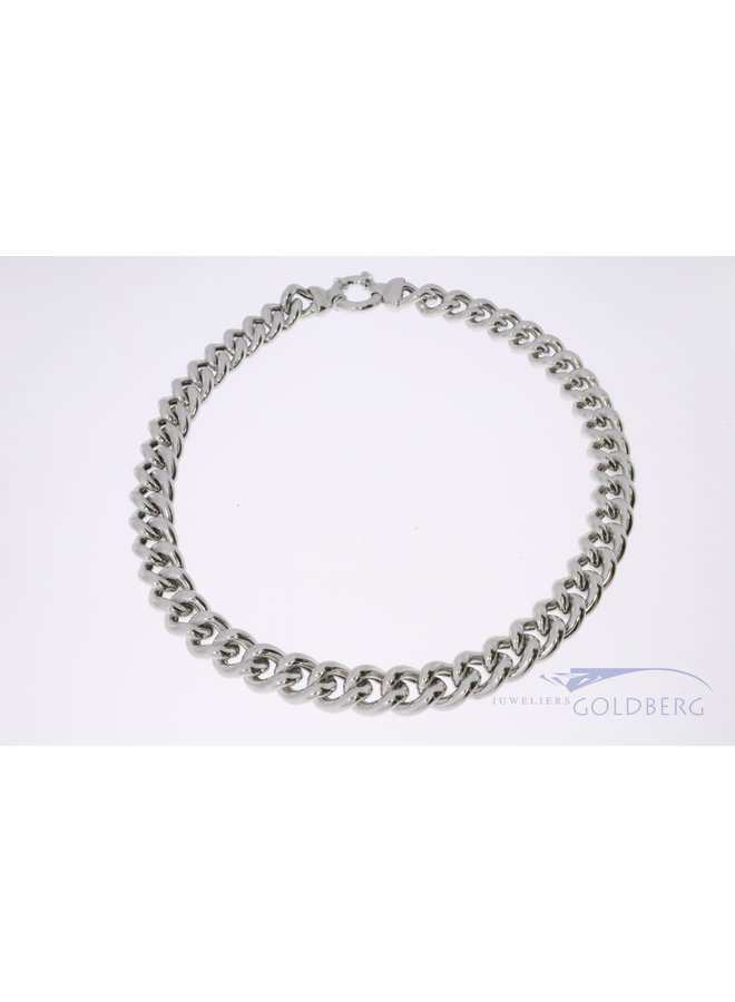 925 silver gourmet necklace 12mm
