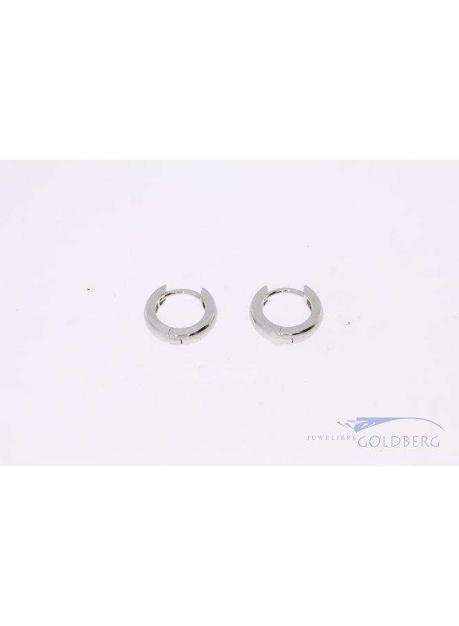 925 zilver creolen glad 13.5mm