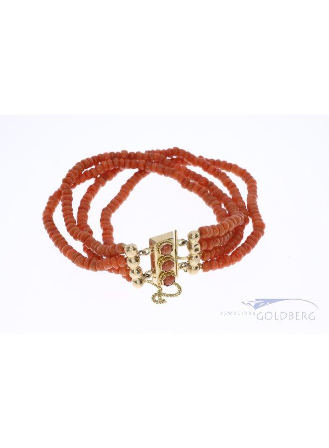14k zelandic red coral bracelet