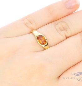 18k gouden ring citrien