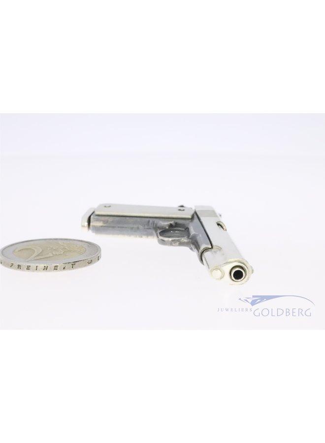 Zilveren 1911 pistool miniatuur handwerk (UNIEK)