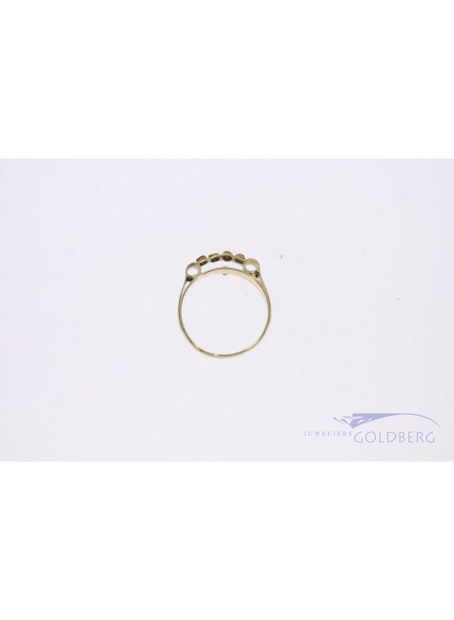 14k gouden ring met bloedkoraal