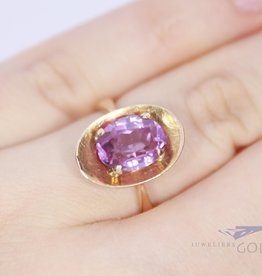 14k russian ring with ametist