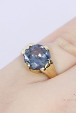 antique small 14k ring with amethyst