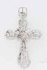 18k witgouden kruis volgezet met diamanten