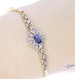 Art Deco bracelet with diamond and sapphire