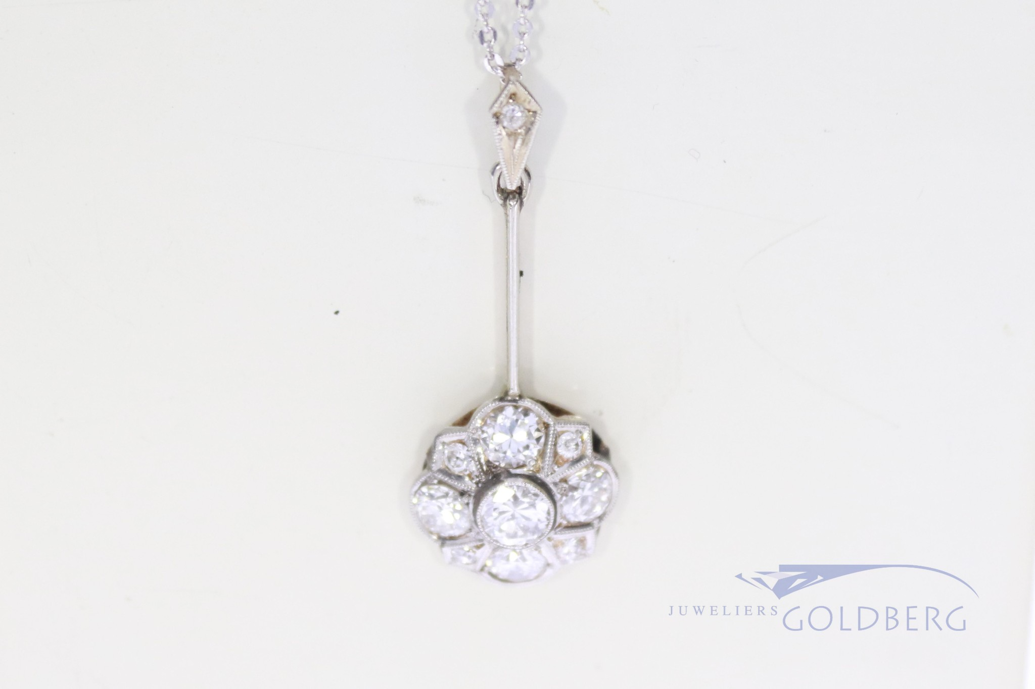Suptiele bolsjewiek hanger met diamant