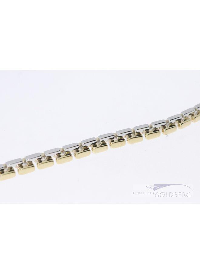 14k bi-coulor me14k vintage bi-coulor mannen armband.n's bracelet.