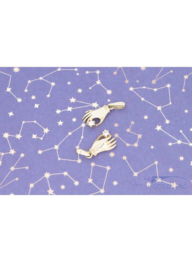 18k mystical hand pendant with diamond