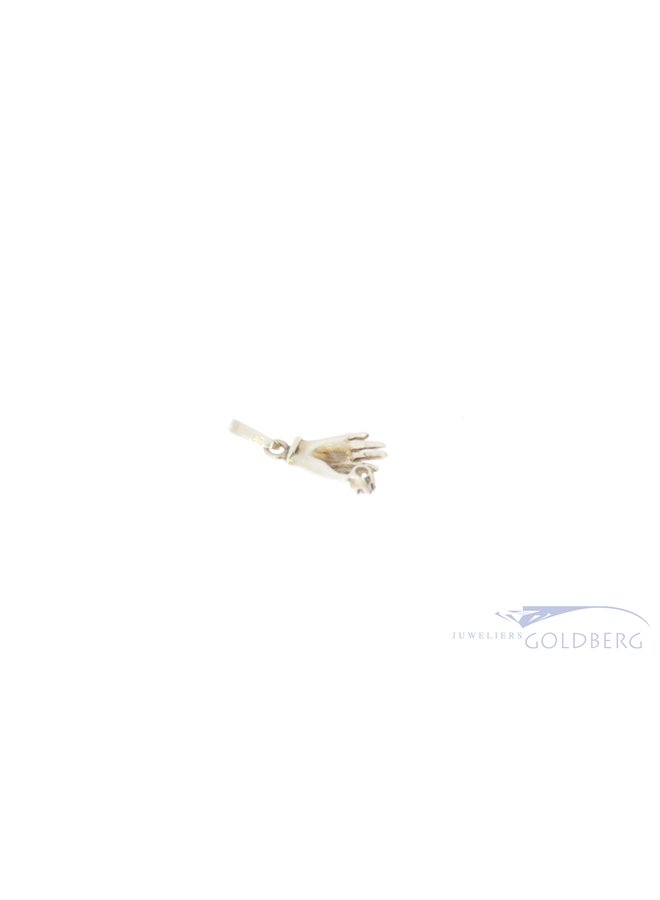 14k mystical hand pendant with diamond