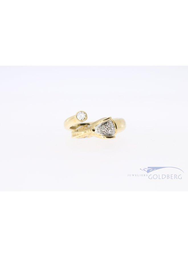 18k olifant ring met diamant