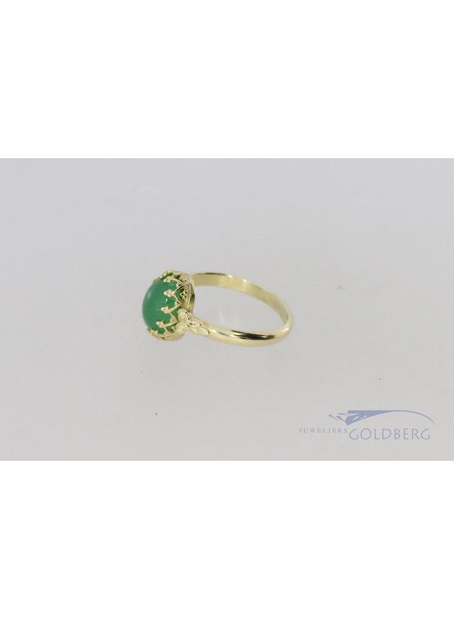 14k gouden ring uit eigen Atelier