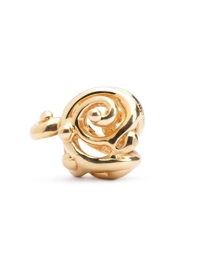 Trollbeads Gouden Ornament TAUBE-00046