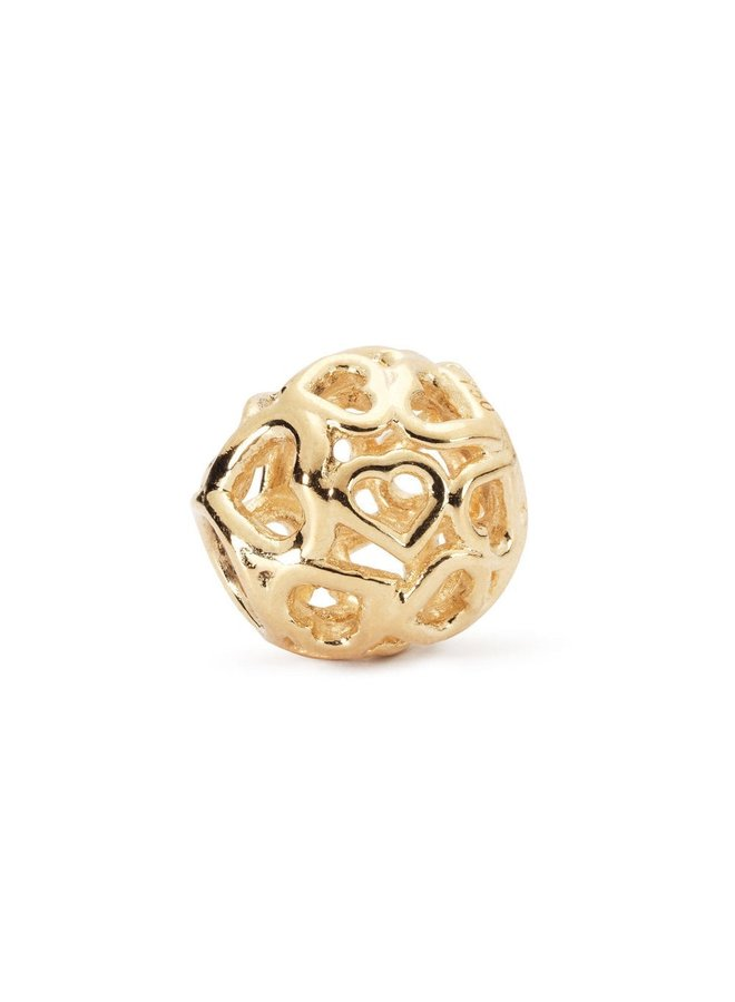 Trollbeads Gold Bouquet Of Hearts TAUBE-00050