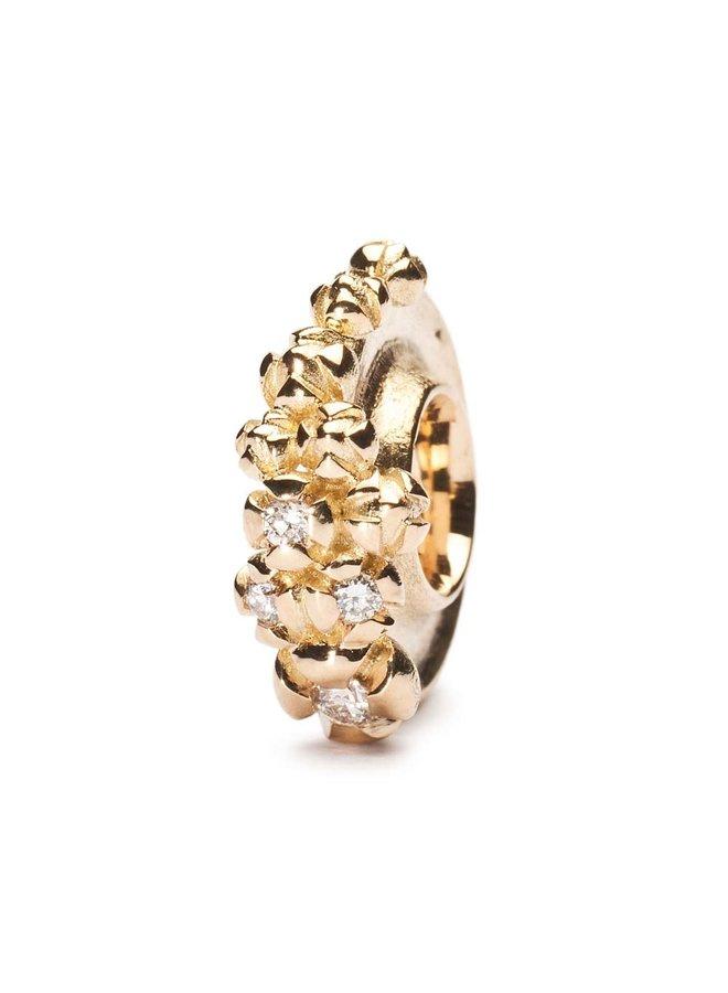 Trollbeads Gold Bougainvillea with Diamonds TAUBE-00052