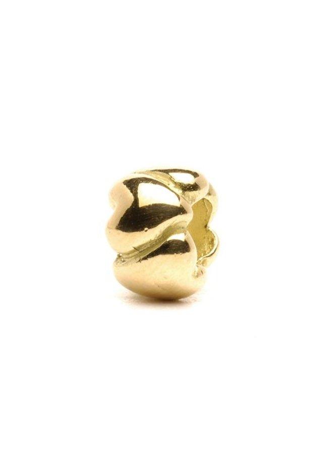 Trollbeads gouden Harten, klein.