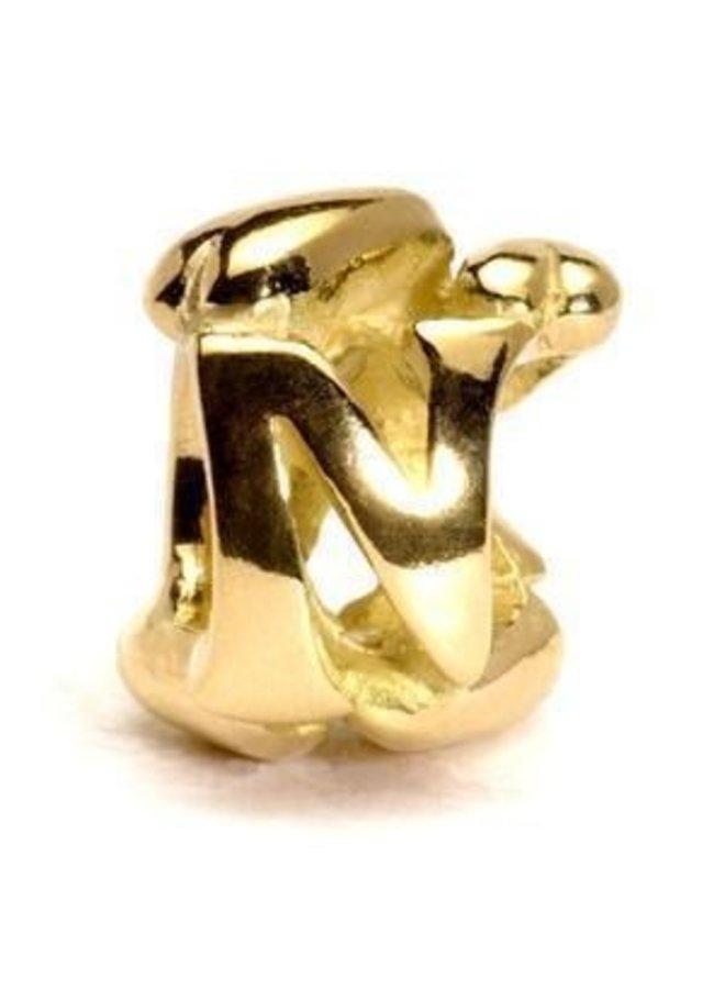 Trollbeads Gouden alfabet L - U
