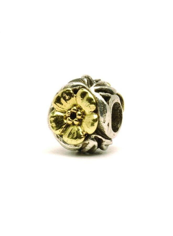 Trollbeads gold/silver Flower Bead
