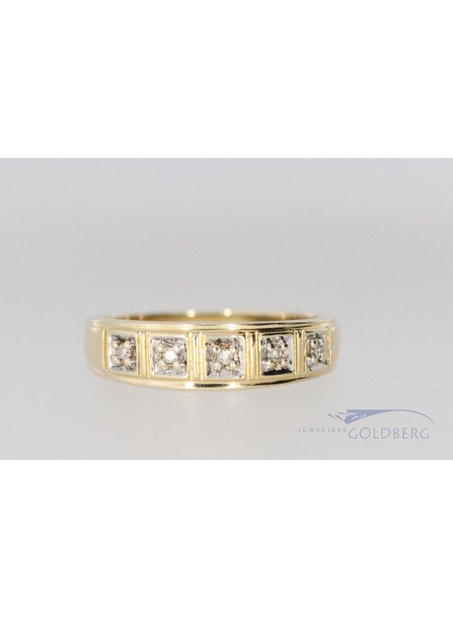 14k diamond ring post. 1988