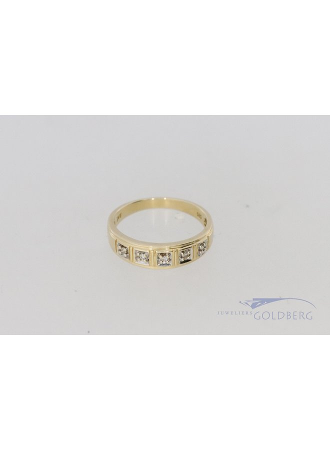 14k diamant ring post. 1988