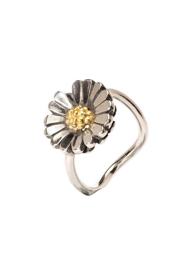 Trollbeads 18k/silver Daisy ring