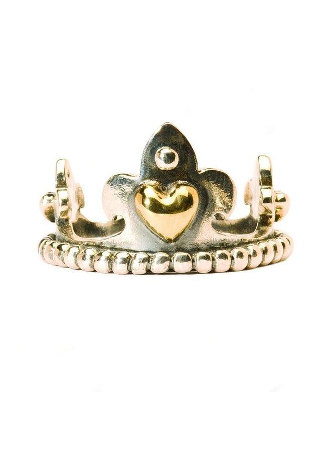 Trollbeads goud/zilveren kroon