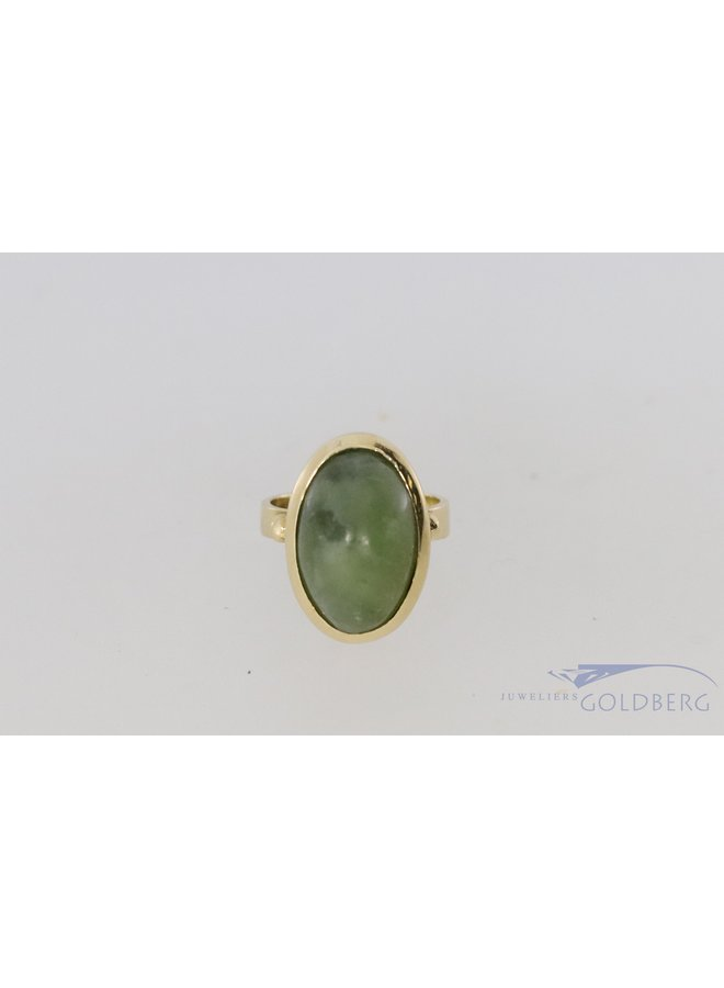 14k ring with moss agate