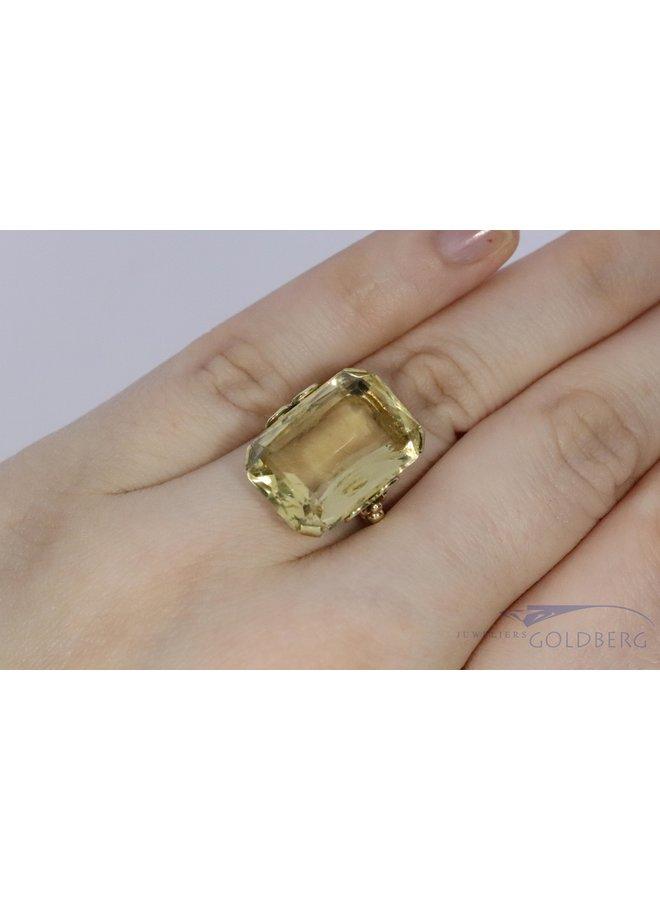 14k vintage ring with citrine ca. 1906-1953