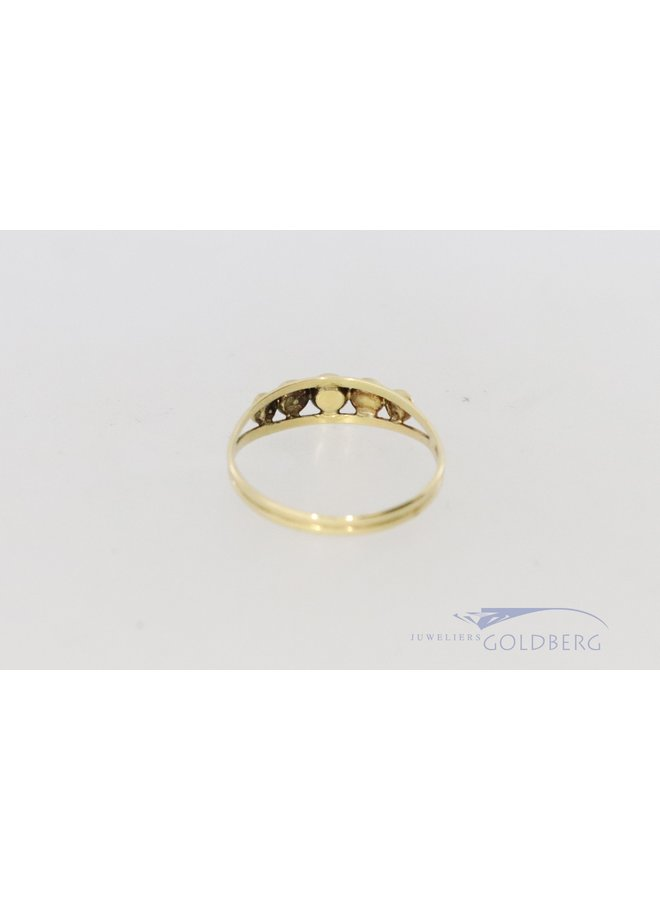 14k alliance ring with zirconia