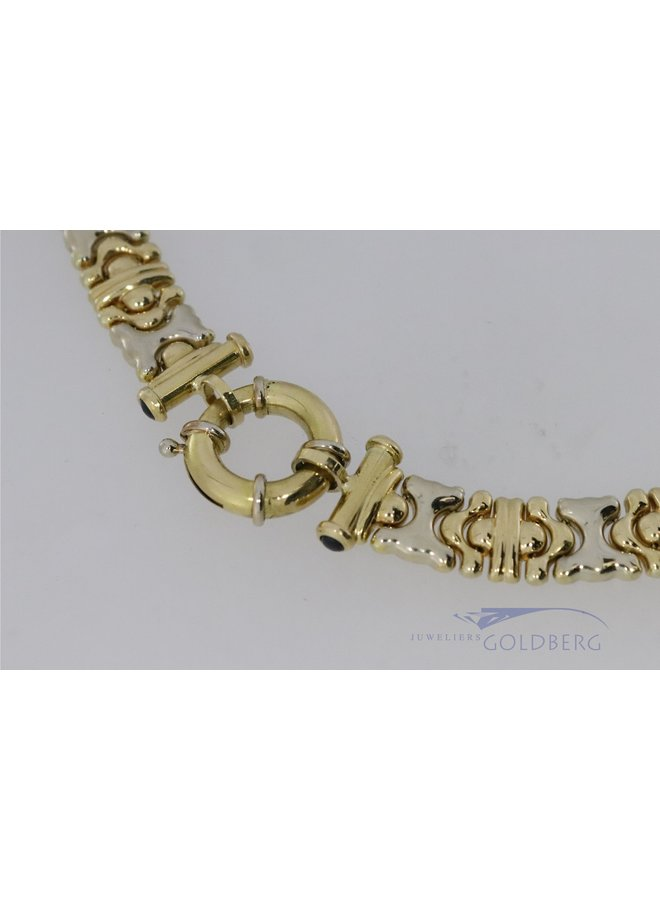 14k bi-color necklace with pin link