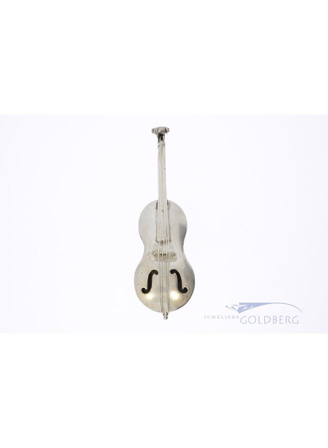 zilveren Cello miniatuur