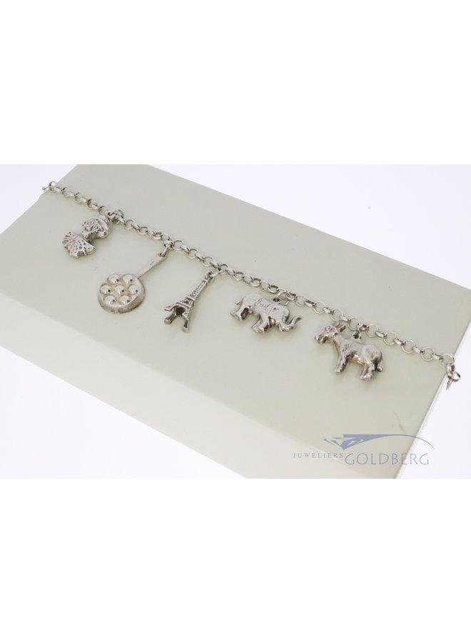"silver charm bracelet ""world trip"""