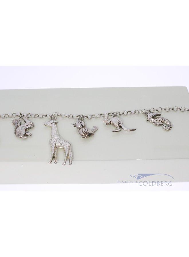 "Silver charm bracelet ""zoo"""