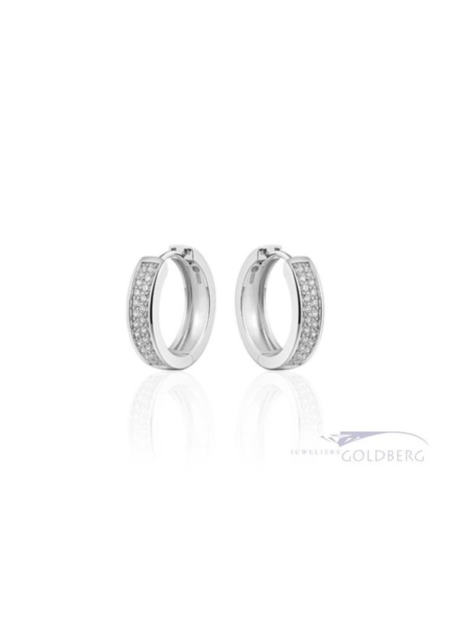 medium silver clasps with 2 rows of zirconia. 5mm x 20mm