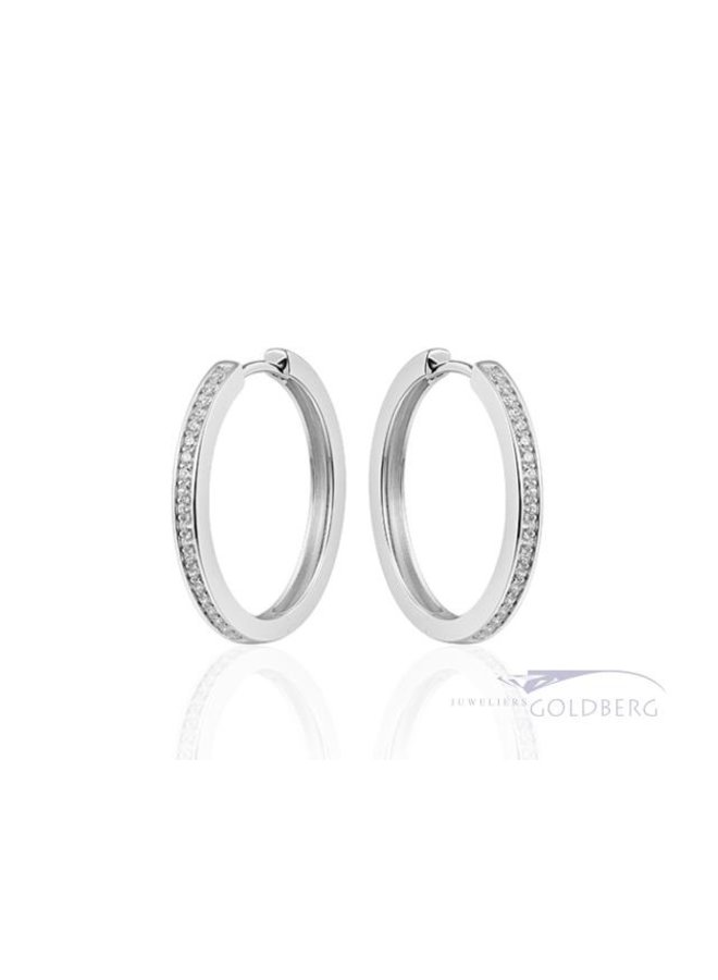 medium folding creoles with zirconia 3mm x 30mm