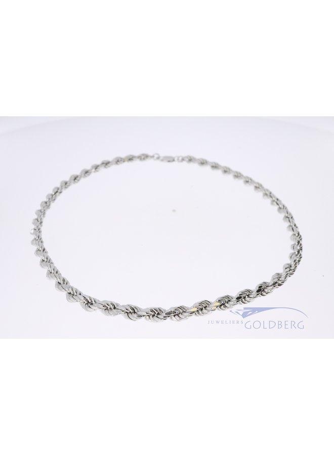 zilver collier ropeschakel 45 cm