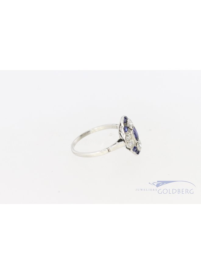 Prachtige platina Art Deco ring