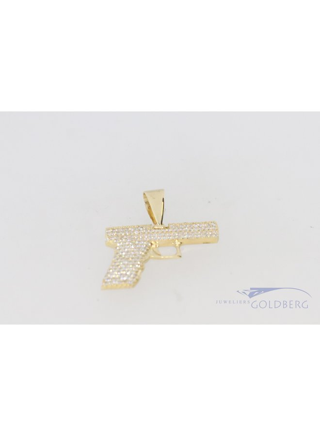 14k gold premium zirconia pistol