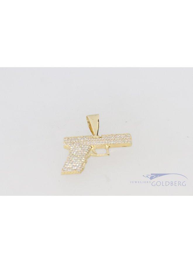 14k goud premium  zirkonia pistool